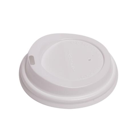 Крышка для бумажных стаканов белая 73 мм.