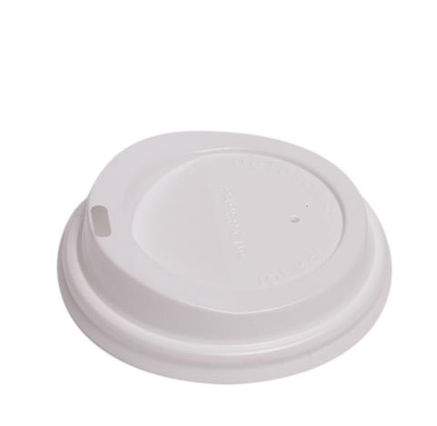 Крышка для бумажных стаканов белая 80 мм.