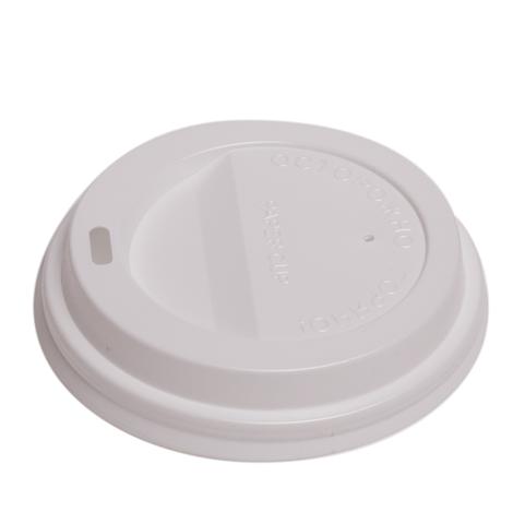 Крышка для бумажных стаканов белая 90 мм.